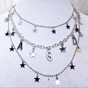 Jewelry - 🌟 AGD 🌟 1 Sorority Letter Star Necklace Silver